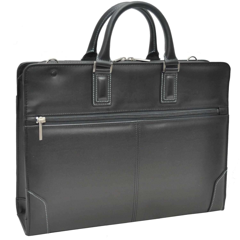 [フィオリーレ] Fiorire ビジネスバッグ 就活 メンズバッグ リクルートバッグ A4 日本製 SK2002 ブラック(10) B00R5KGITK