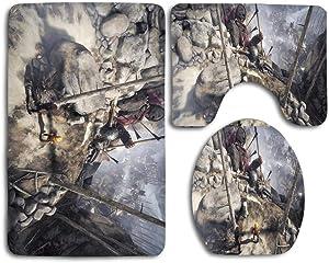 Conjuntos de alfombras de seguridad suave de 3 piezas Brothers-A Tale of Two sons Incluye tapete de baño Alfombra de contorno Tapa Tapa del inodoro para dormitorio Cocina Alfombrillas Set de alfombras