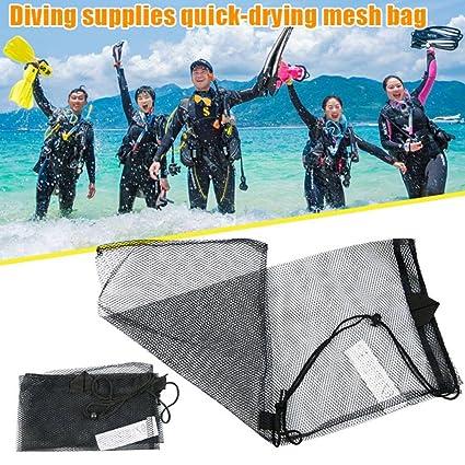 Cutowin - Bolsa de buceo de secado rápido con cordón para deportes acuáticos, máscara de buceo y bolsa de red de embalaje