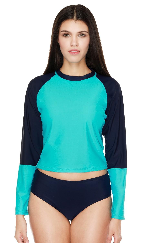 beautyin Womens Long Sleeve Rashguard Swimwear UPF 50 Rash Guard Athletic Tops