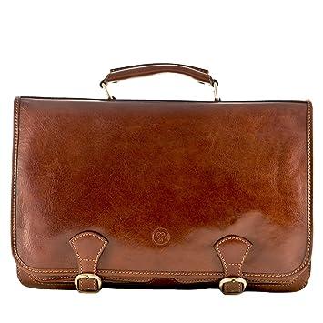 Maxwell Scott® Luxury Italian Leather Men's Large Satchel Bag ...