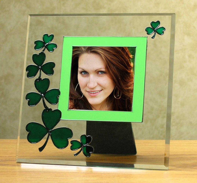 Amazon.de: Irish Fotorahmen, Bilderrahmen, abgeschrägtes Glas, Grün ...