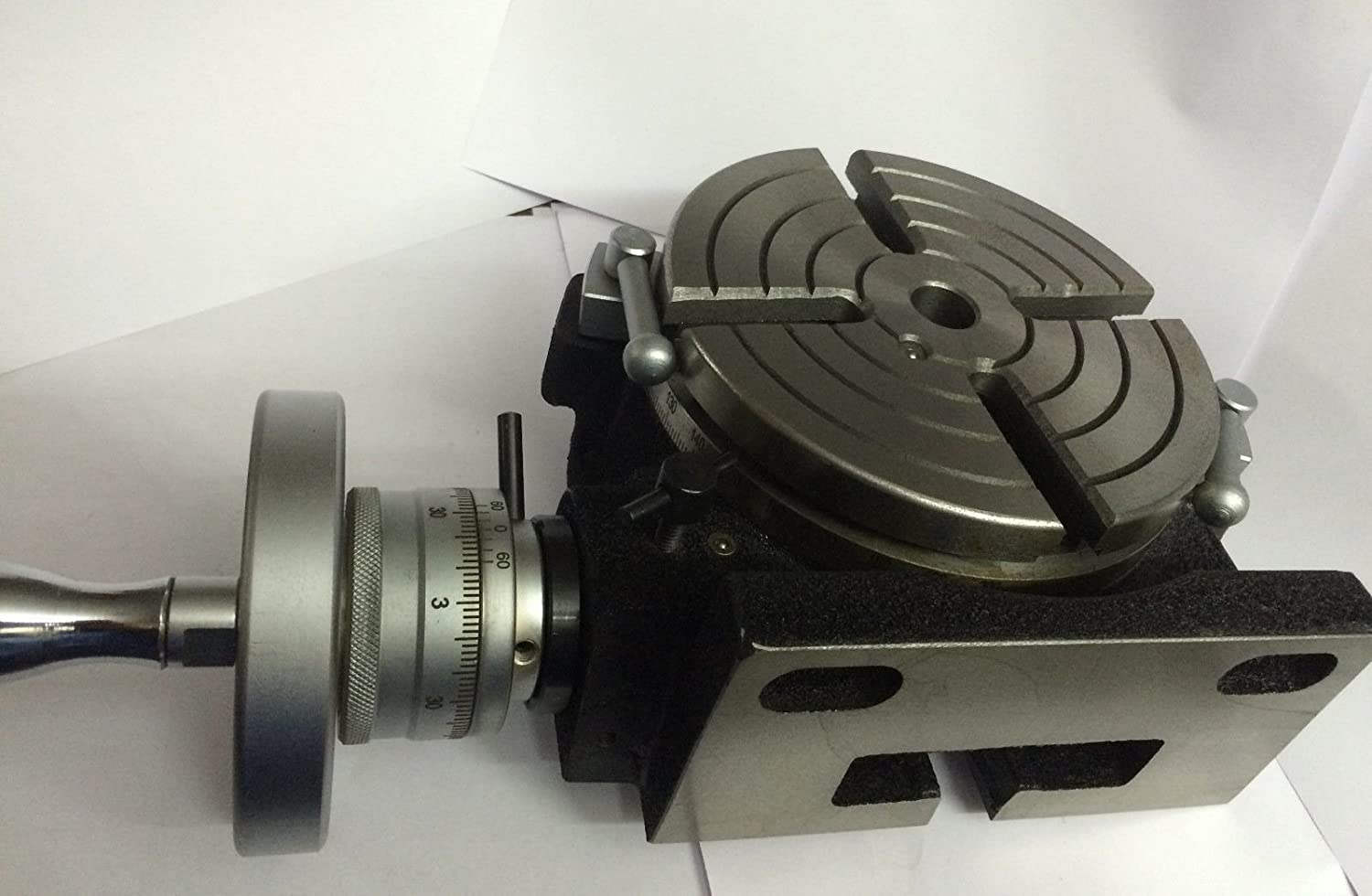 6 150 mm Precision HV6-4 Slots Rotary Table with M8 Clamp Kit for Milling