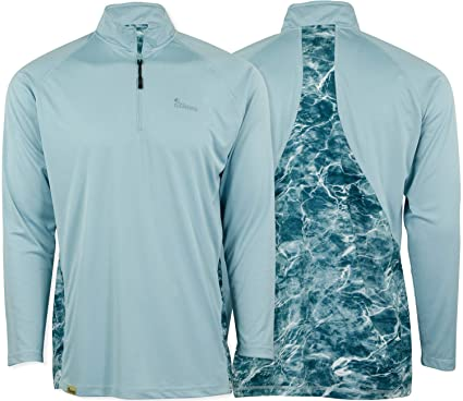 7654dabfc0 Mossy Oak Long Sleeve Performance Moisture Wicking 1/4 Zip Fishing Shirt  for Men at Amazon Men's Clothing store: