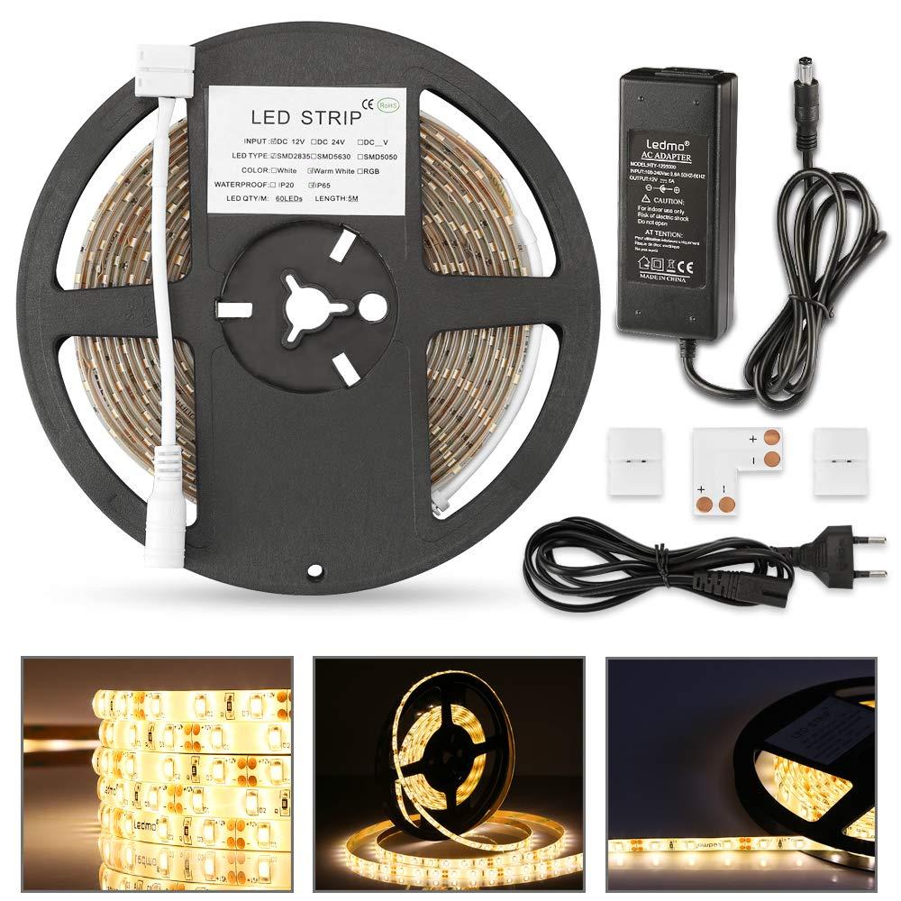 Led Dimmer fernbedienung LEDMO Lichtkontroller Lichtschalter 12v Led Streifen Leiste Lichtband Led Strip Lampe Trafo Dimmer einfarbig 6 Tasten 6A Fernbedienung Lampen Licht [Energieklasse A+] yuyinglamp