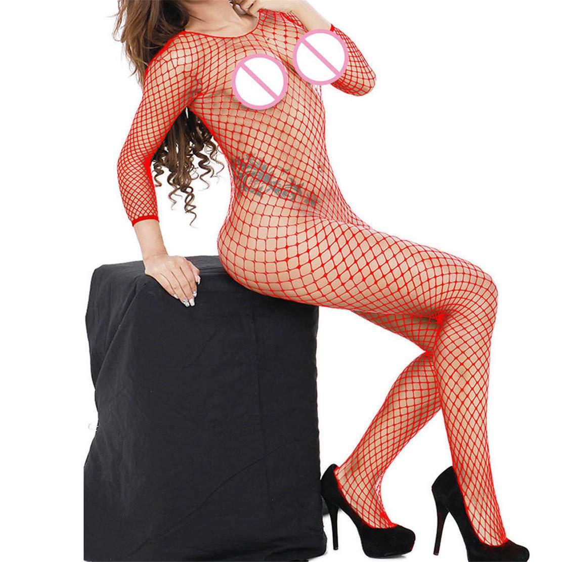 Bringbring Women's Mesh Sexy Lingerie Babydoll Free Size Bodysuit