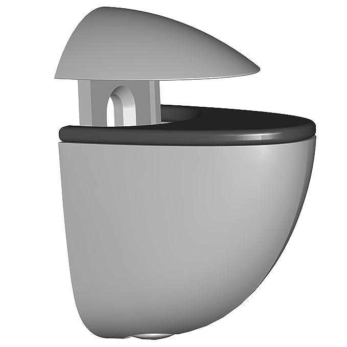 schwarz 11053-00007 5 Farben Glas-Holzbodentr/äger 2 St/ück Element System Regalbodentr/äger Selecta
