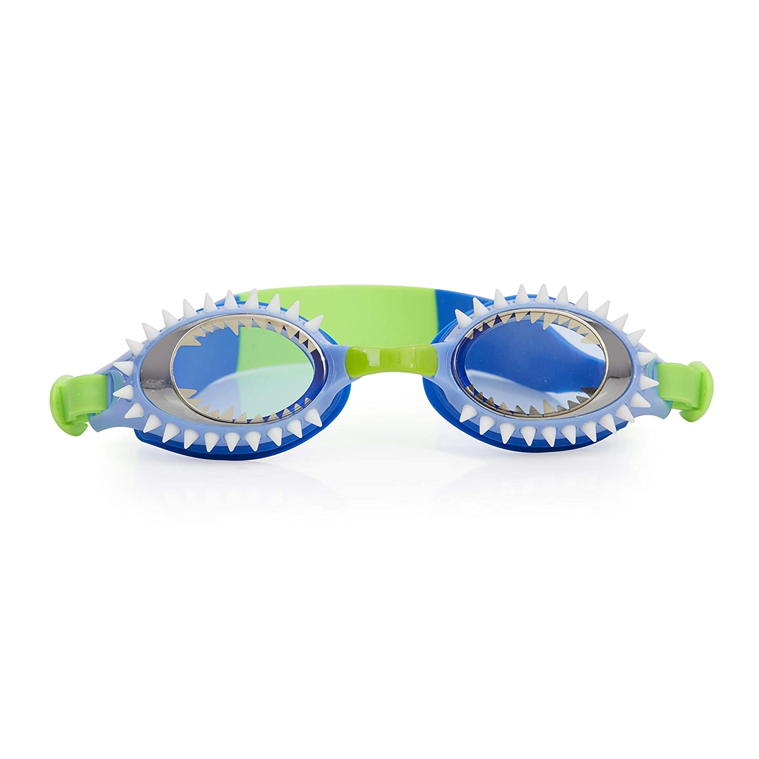 Bling 2O Kids Swimming Goggles - Shark Teeth Swim Goggles for Boys - Anti Fog, No Leak, Non Slip, UV Protection with Hard Travel Case - 8+