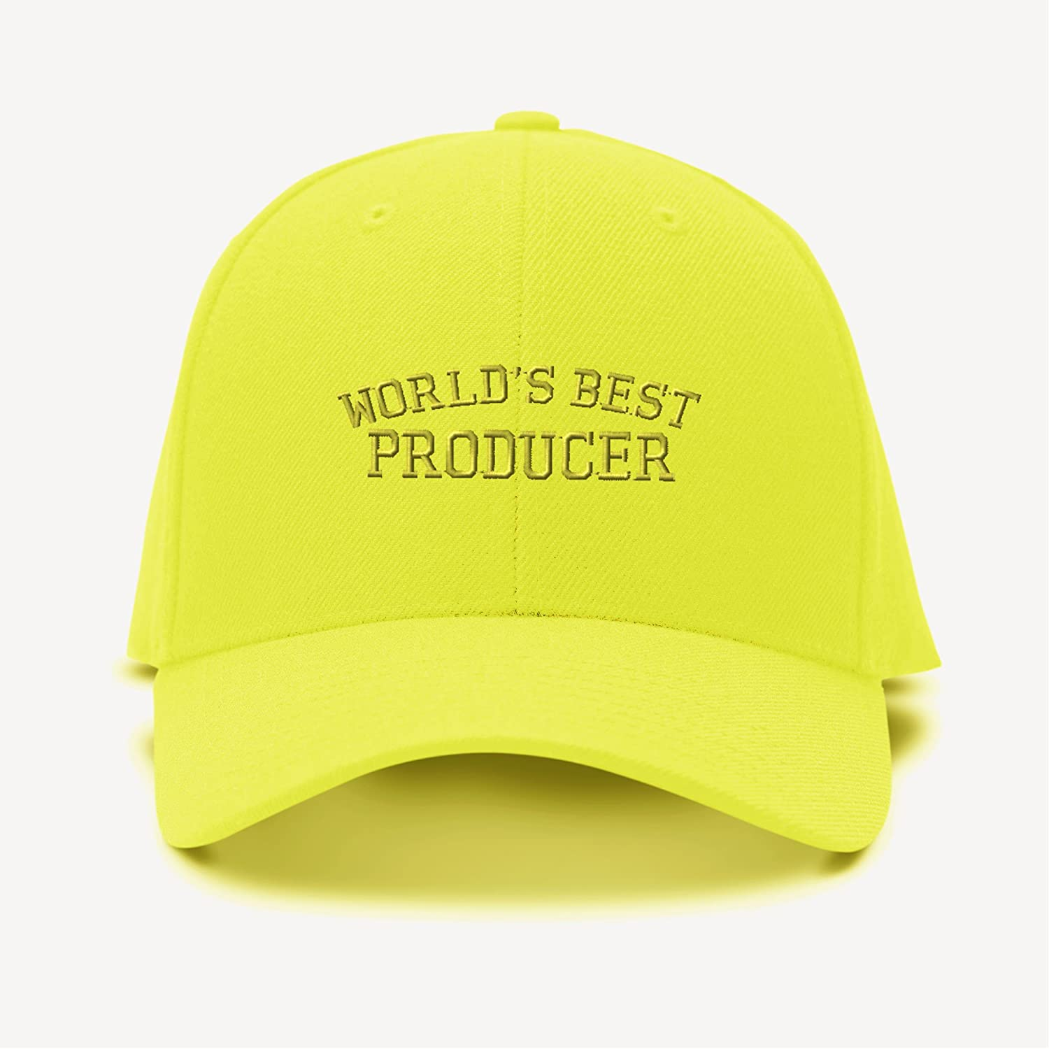Speedy Pros Worlds Best Producer Embroidery Adjustable Structured Baseball Hat