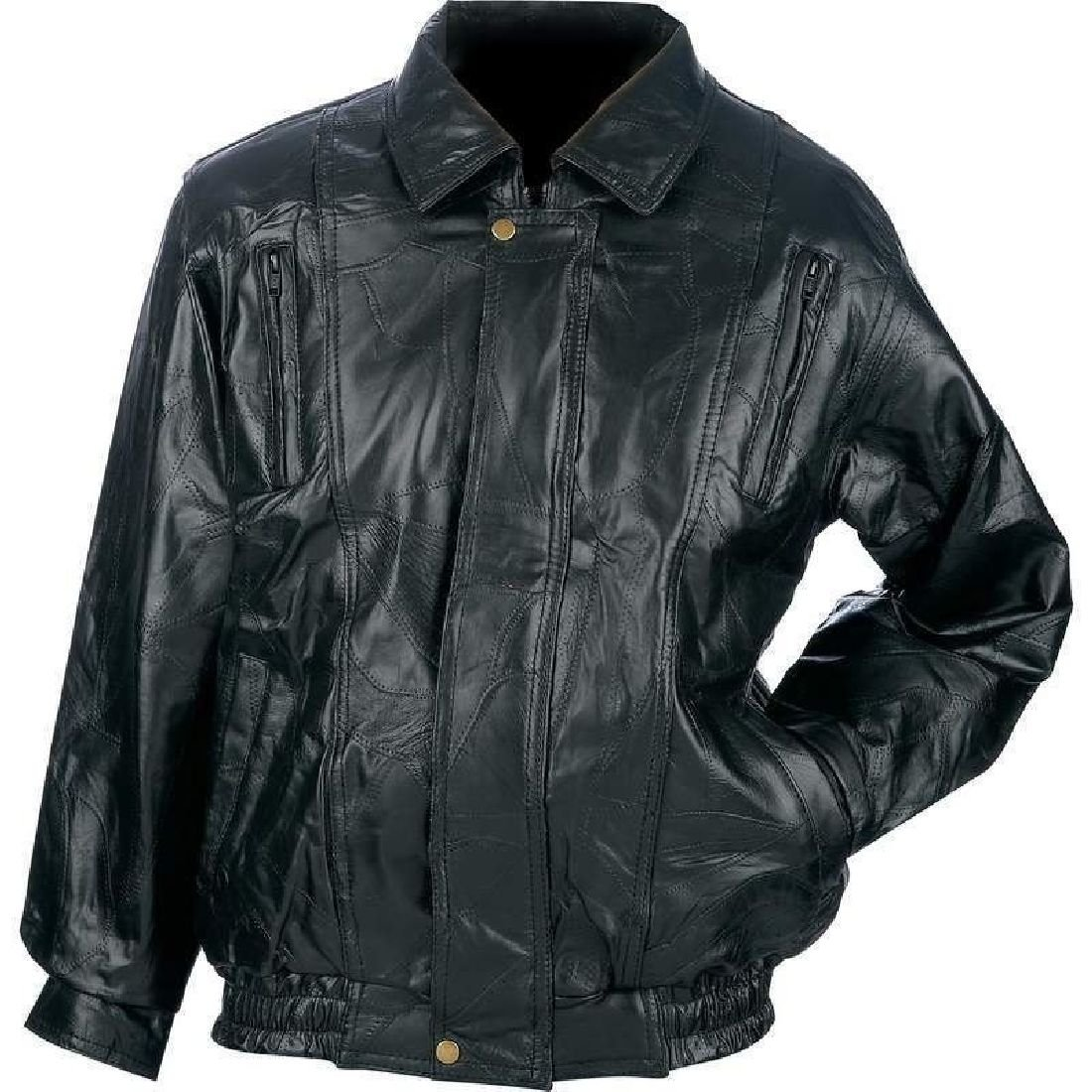 【人気沸騰】 メンズブラック本革レザーボンバージャケットフライトコートバイクバイカーRiding M Size (Men's) (Men's) M Size B0753FG8SC, イージャパンアンドカンパニーズ:299d3bf8 --- a0267596.xsph.ru