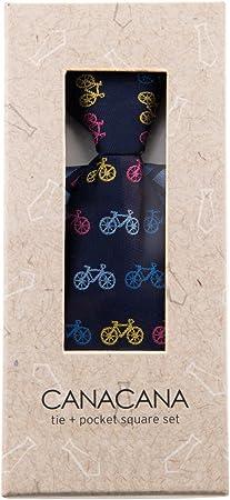 Canacana Classic - Corbata de niño con bolsillo a rayas onduladas