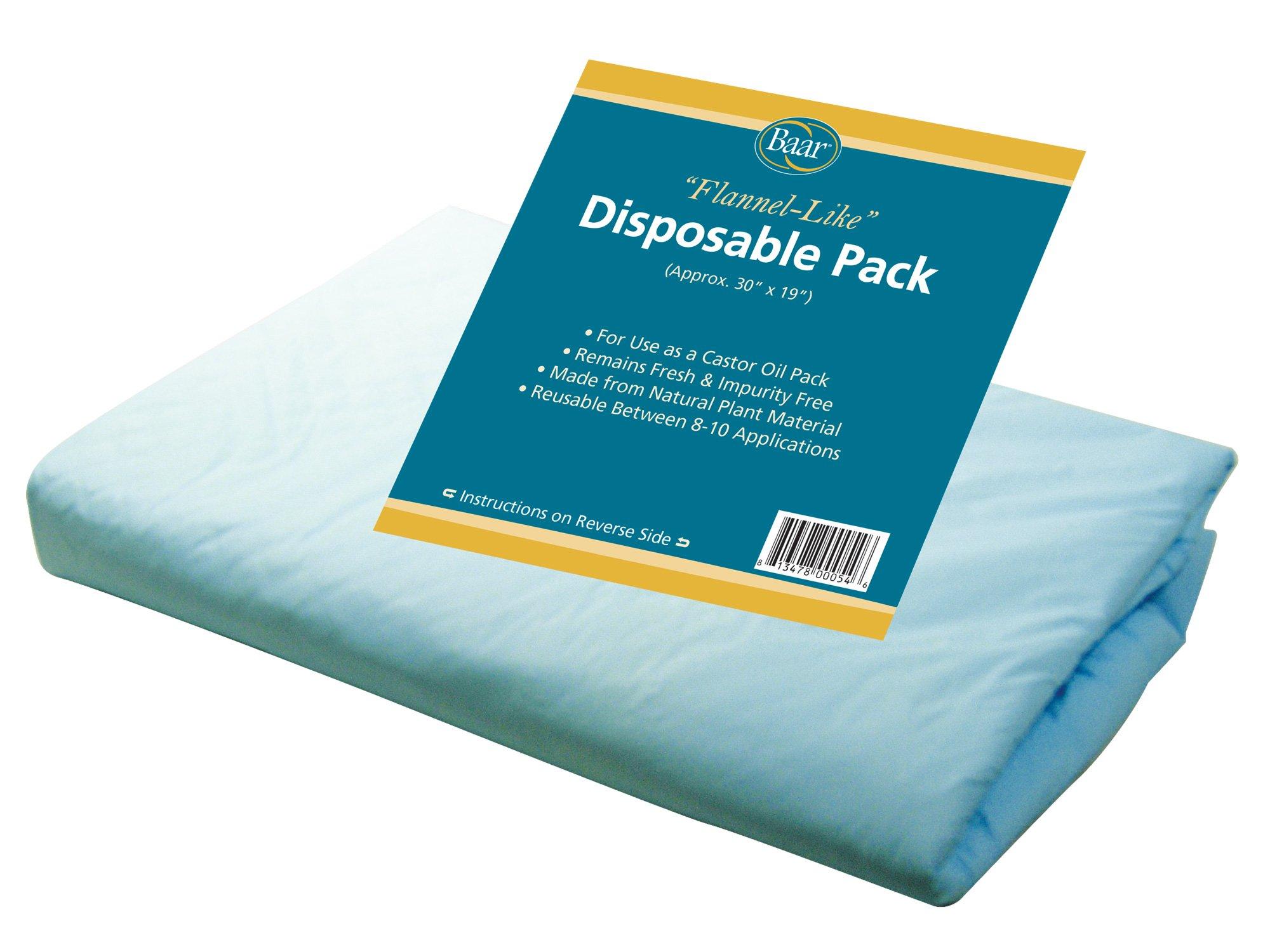 amazon com smaller baar disposable castor oil pack health