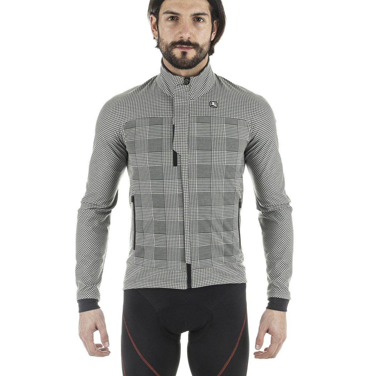 Giordana sosta Winter Jacket – Men 's B01M6VZXXS X-Large|グレーのチェック柄 グレーのチェック柄 X-Large