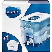 BRITA waterfilterstation Flow, voor grote volumes gefilterd kraanwater, met handige tapkraan, blauw, 8,2L