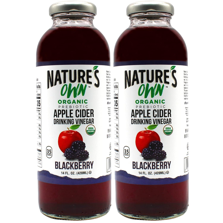 Nature's Own Organic Apple Cider Vinegar, Blackberry (Pack of 2)