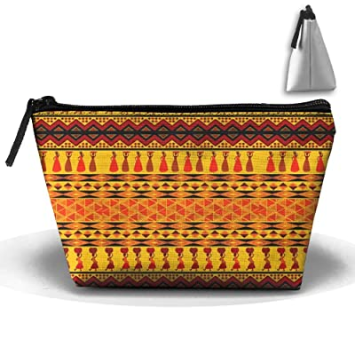 hot sale 2017 GoodLuck Ethnic African Pattern Printing Trip Toiletry Bag  Trapezoidal Zipper Receive Bag Travel e670cb16e4