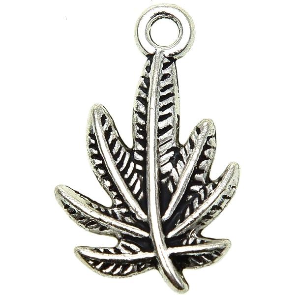 20 Pcs Leaf Pendant Charms Jewellery Making Kits DIY Jewelry Makin TO