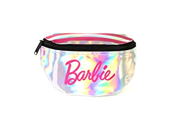 Spiral Sp Barbie Stripes Bum Bag Sport Waist Pack, 24 cm, 3 L, Silver   Amazon.co.uk  Luggage e1f1772819
