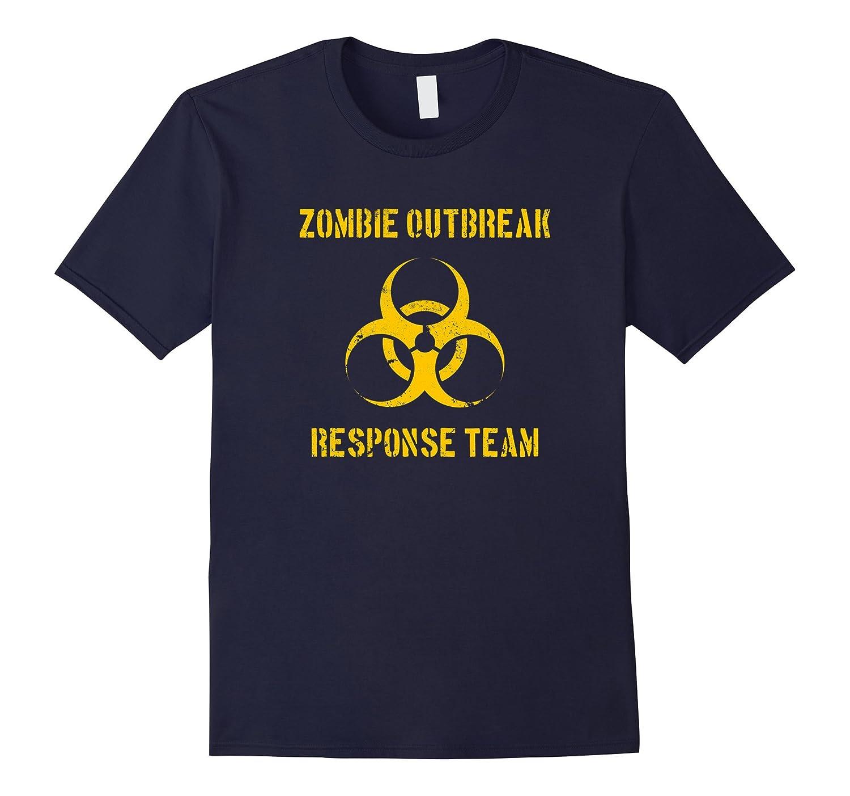 Zombie Outbreak Response Team Funny Halloween T-Shirt-BN