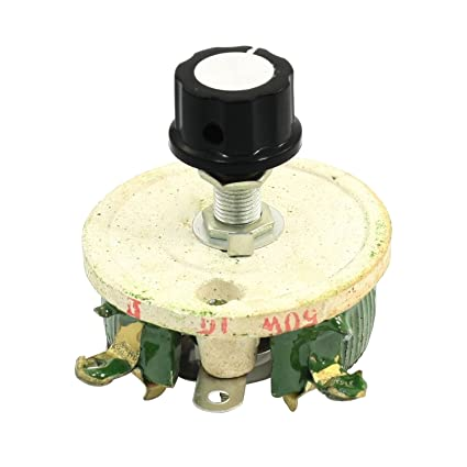 Reostato de resistencia 10 Ohm - TOOGOO(R)50W 10 Ohm Potenciometro de ceramica