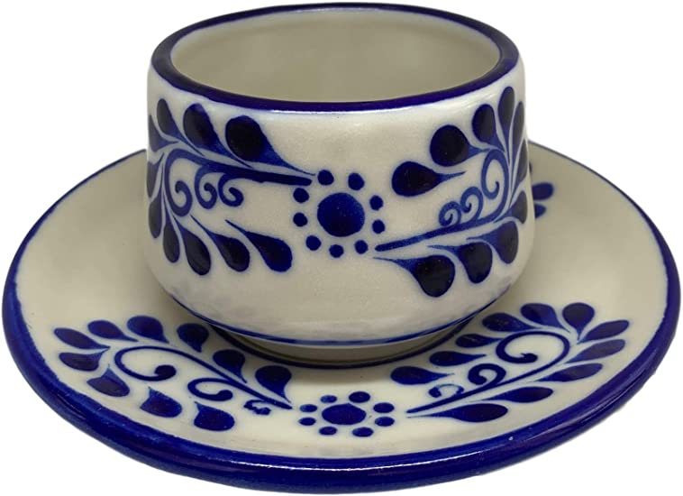Blue Rim Authentic Hand-Painted Talavera Soap Dish