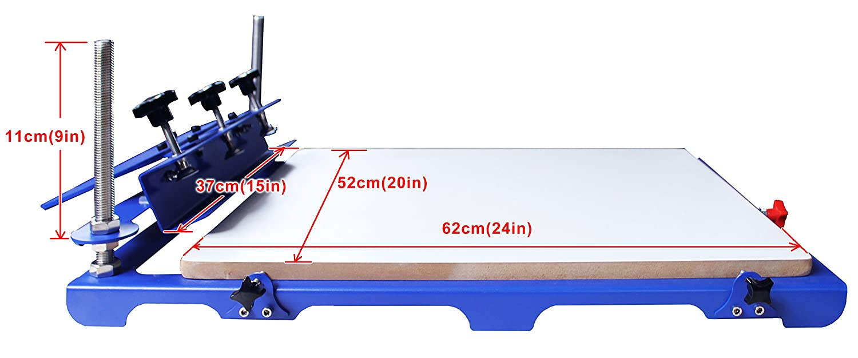 TECHTONGDA 1 Color 1 Station Screen Printing Press Screen Printer Machine Screen Press Micro Adjust 20x24 Pallet