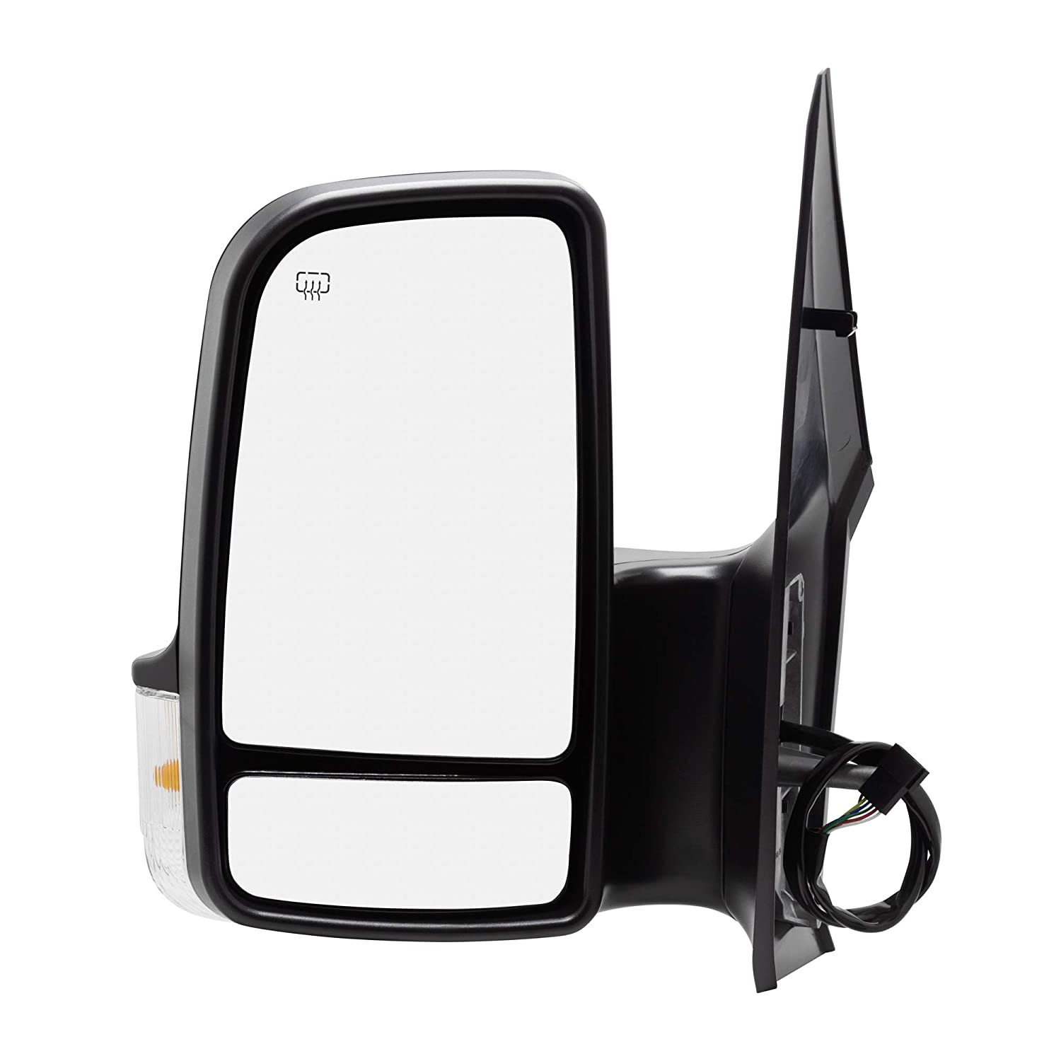 Spieg MB1320114 Side Mirror Replacement for Dodge Freightliner Mercedes Sprinter Power Heated w//Turn Signal Light Driver Left