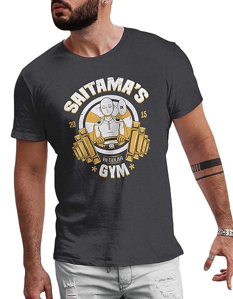 Saitama ordinarios del Gimnasio Camiseta - lerage Camisas de Hombre: Amazon.es: Ropa y accesorios