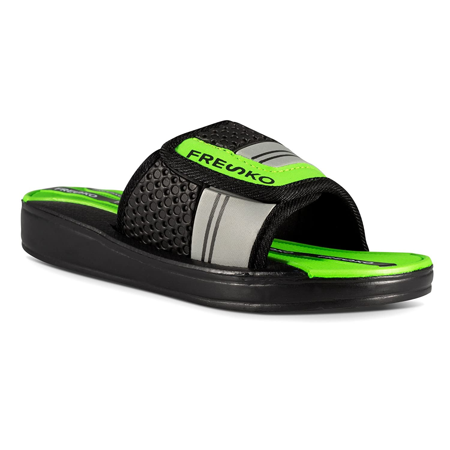 905e10bf68 Amazon.com | Fresko Shoes Slides Sandals for Boys - Hook and Loop Closure,  Pool, Beach Water Shoe | Sandals