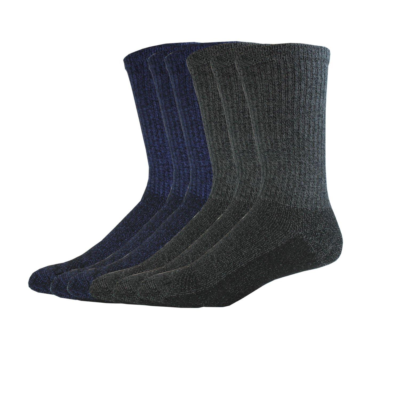 Dickies Men's Multi-Pack Dri-Tech Moisture Control Crew, Mixed Denim 6 Pack, Sock Size: 10-13/Shoe Size: 6-12