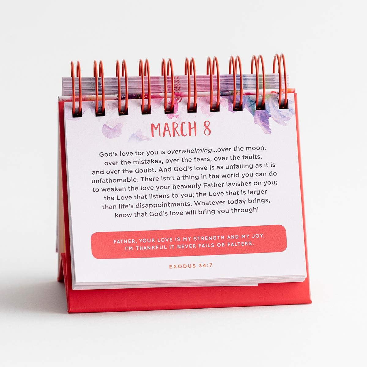 J1393 Pink DaySpring 5 1//2 x 5 1//4 x 1 1//4 Perpetual Calendar It is Well