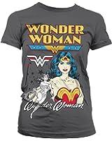 Officiellement Marchandises Sous Licence Posing Wonder Woman Femme Tee