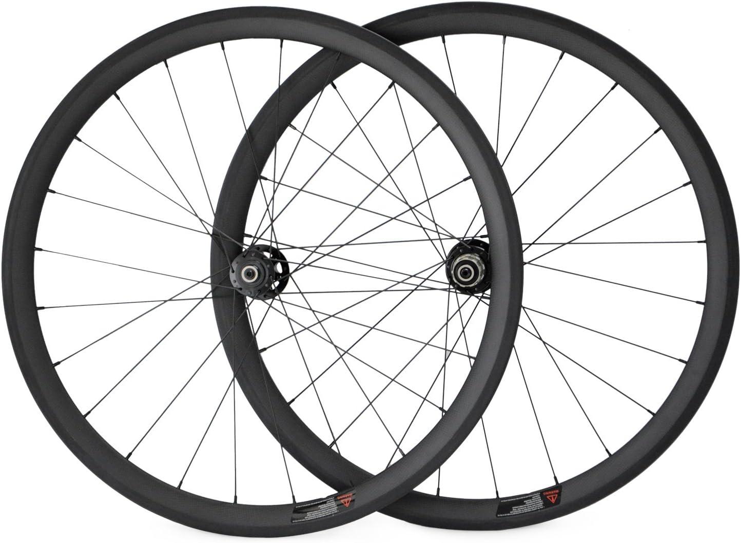 700 C Disco ruedas carbono Tubular bicicleta ruedas de 38 mm para ...