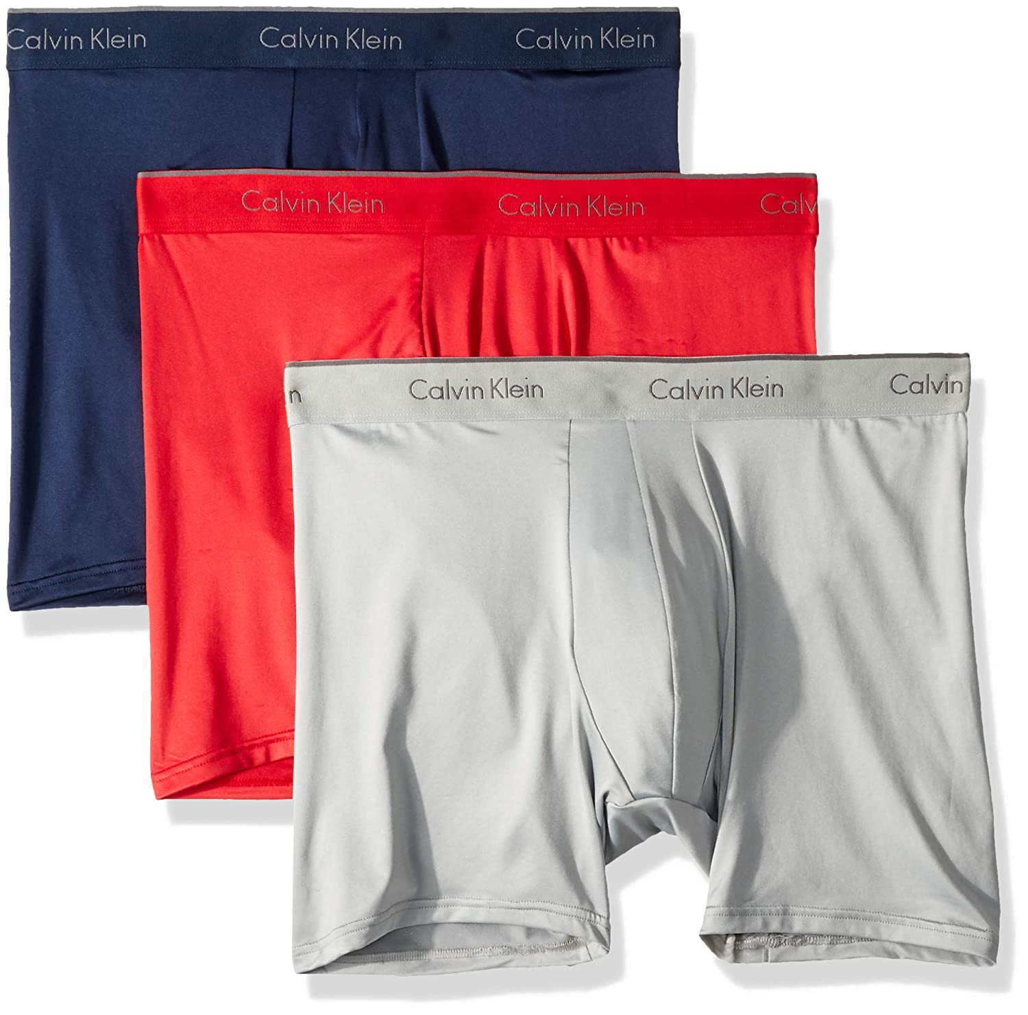 Calvin Klein Men s Microfiber Stretch 3 Pack Boxer Brief at Amazon Men s  Clothing store  40f66ea17