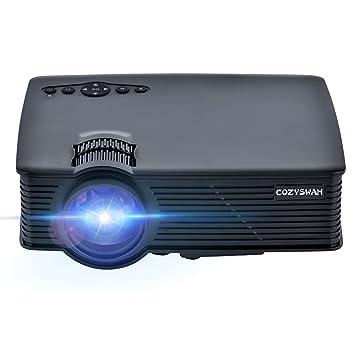 Proyector, Cozyswan GP9 apoyo 1080P HDMI 1500 luminoso LCD Mini ...