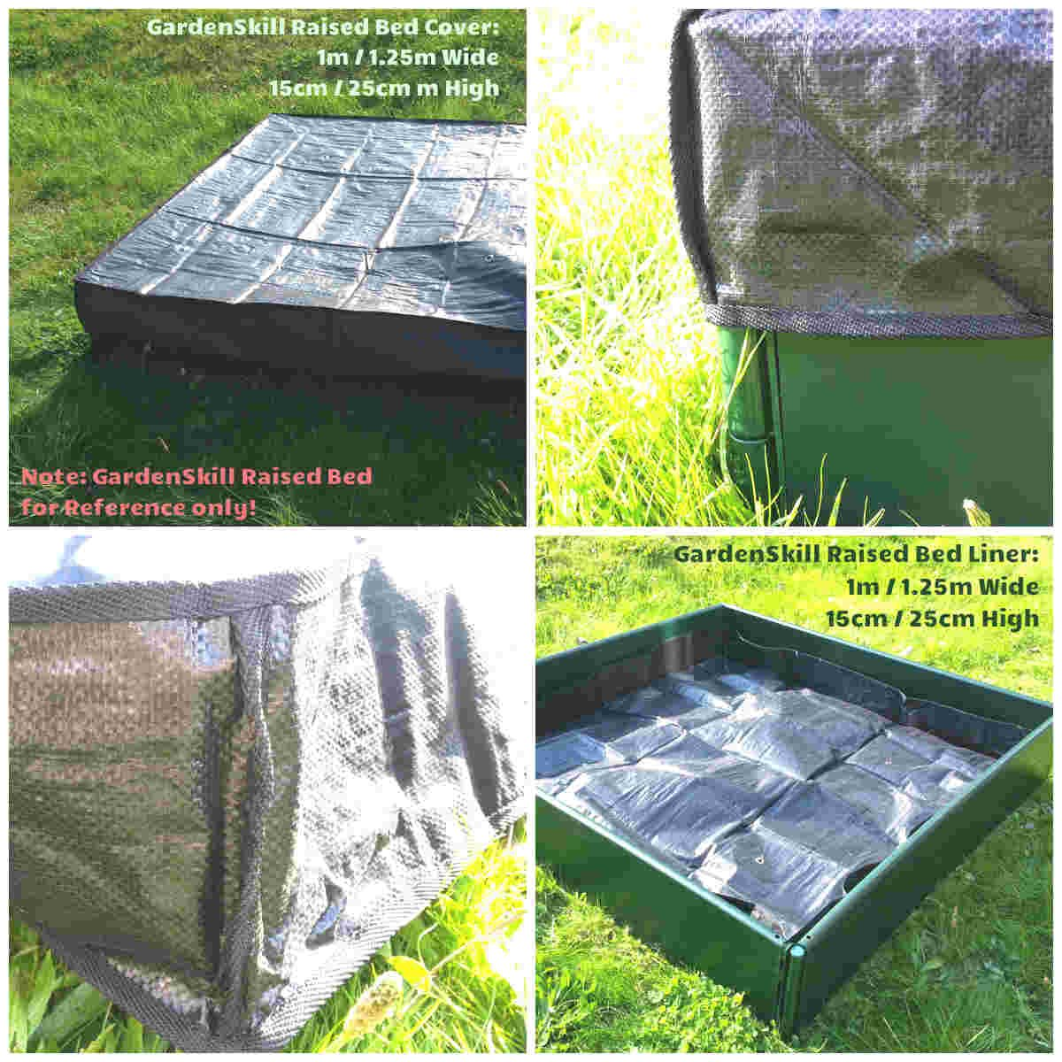 GardenSkill 2in1 Raised Bed Liner / Cover (15cm High x 1m Long x 1m Wide)