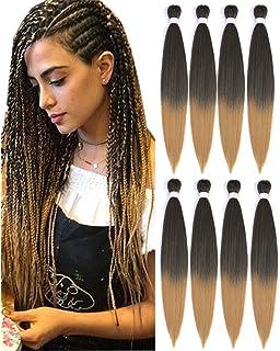 Amazon Com Ombre Pre Stretched Braiding Hair Top Silky Braid Hair Extensions Crochet Twist Hair Braids Yaki Texture Original Braiding Hair Pre Stretched 0 2 Pound Bundle 22 7 Bundles 2 Beauty