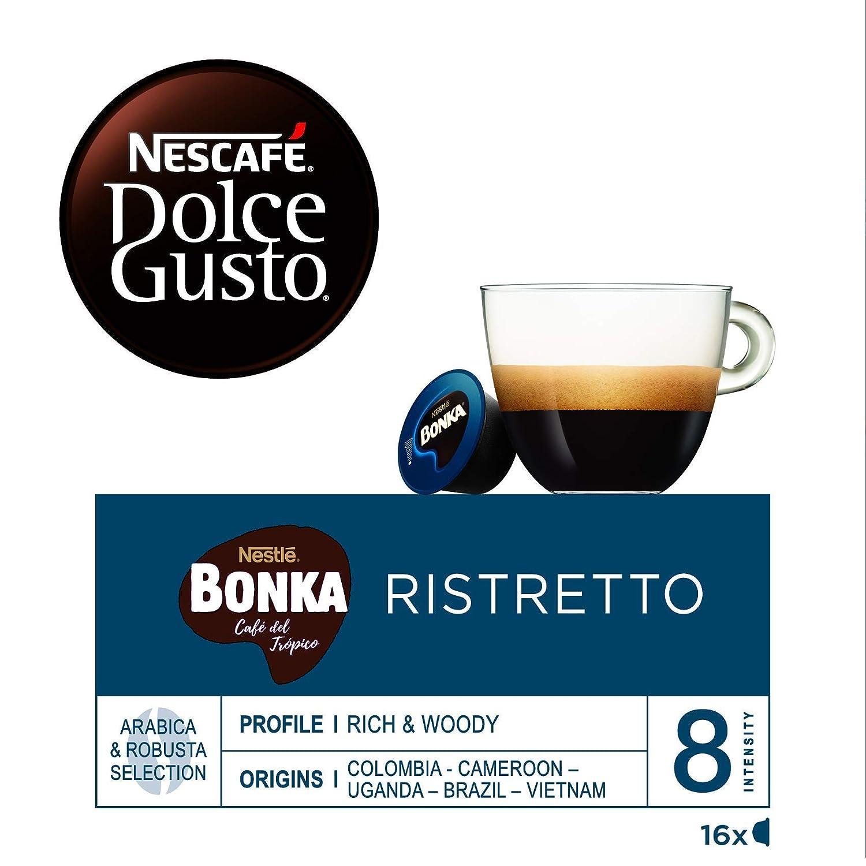 NESCAFÉ Dolce Gusto Café BONKA, Pack de 3 x 16 Cápsulas - Total: 48 Cápsulas de Café: Amazon.es: Alimentación y bebidas
