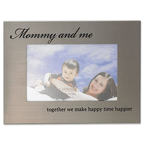 Amazon.com - Lawrence Frames 416464 Mommy and Me Brushed Metal ...