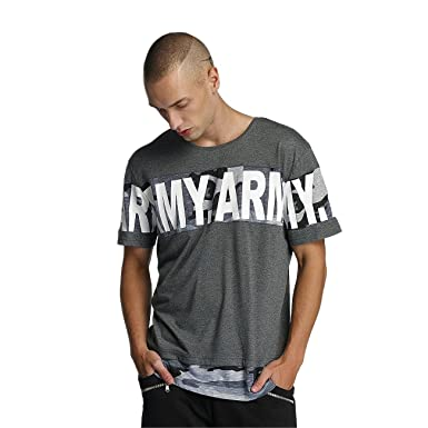 Bangastic Herren Oberteile/T-Shirt Army Grau S