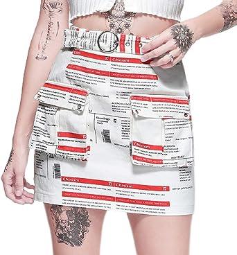 Mujer Faldas Verano Moda Cortos Falda Vintage Carta Impreso ...