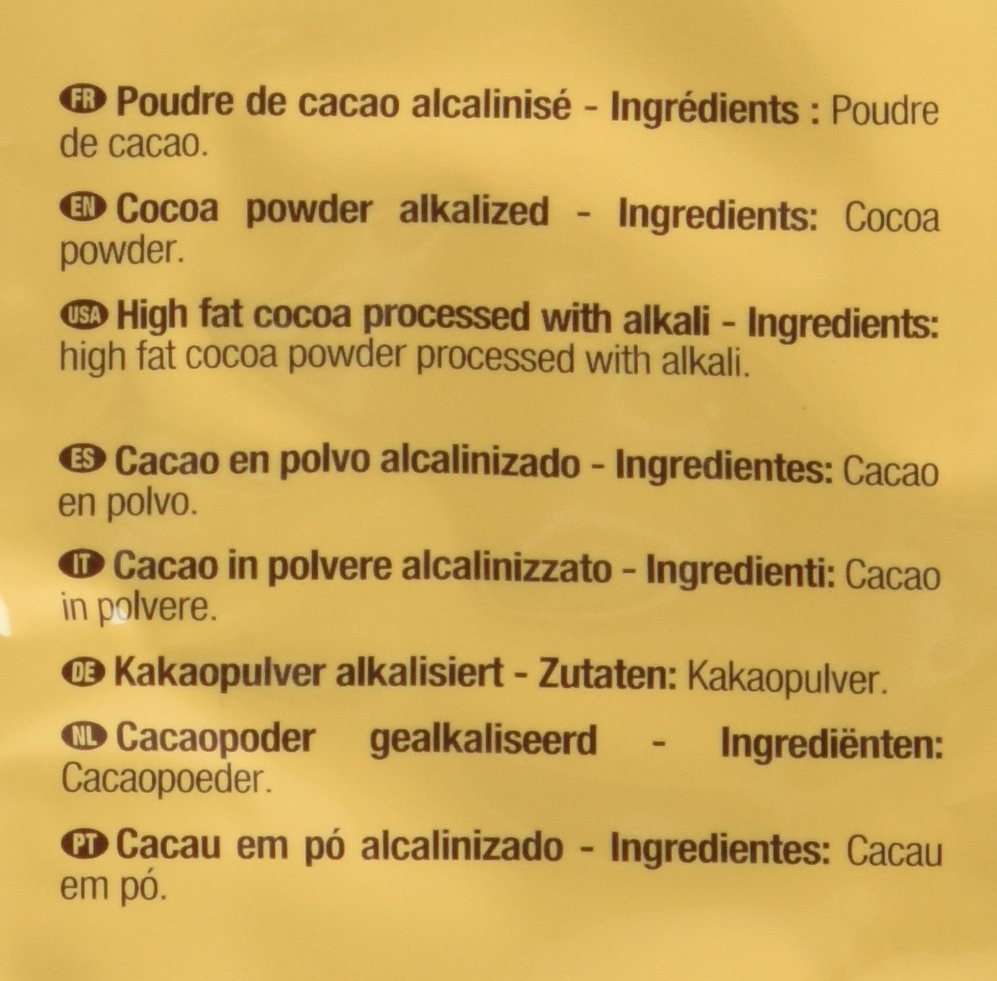 Cacao Barry Cocoa Powder - 100% Cacao - Extra Brute - Six 2.2 Bags by Cacao Barry (Image #2)