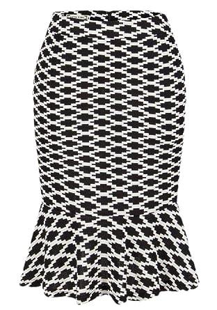 BingSai Falda de Corte Medio para Mujer, diseño de Sirena, para ...