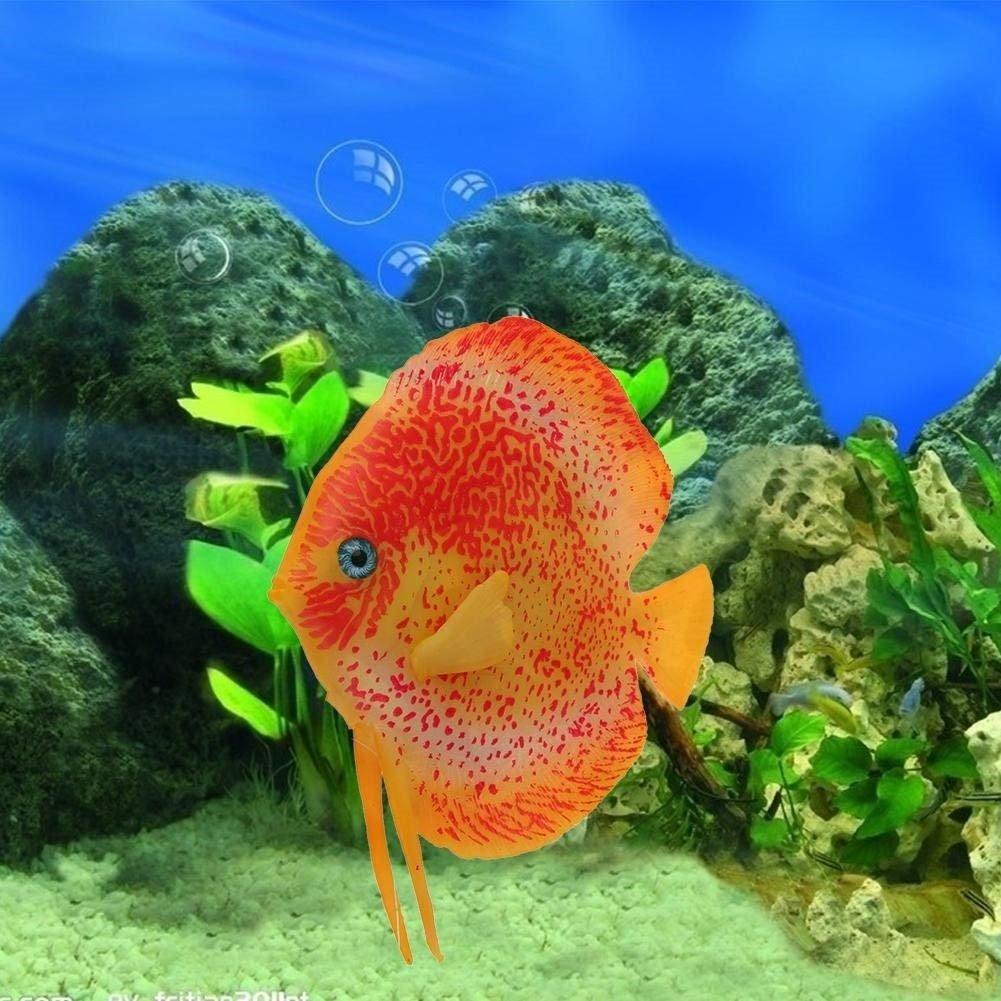 XCXpj - Decoración para pecera, diseño de Peces Tropicales con Efecto Brillante, Color Naranja: Amazon.es: Productos para mascotas