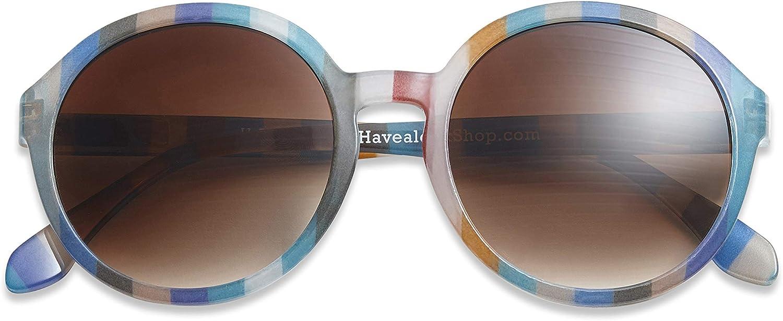 Have A Look Gafas de Sol para Mujer Redondas Diva Candy, Diseño Danés, Multicolor Estilo Retro, Protección 100% UV