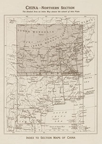 Amazon 1923 world atlas index map china northern section 1923 world atlas index map china northern section index to section maps gumiabroncs Image collections