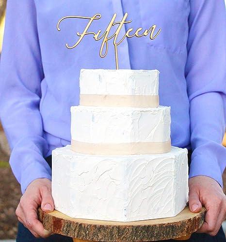 Quinceanera - Decoración para tarta de 15 cumpleaños, diseño ...