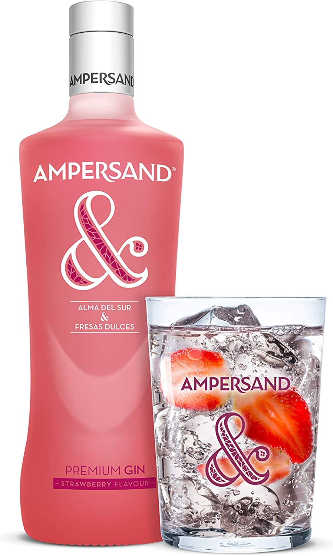 Ginebra premium Ampersand Ginebra sabor Fresa 37.5º 70 cl