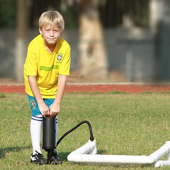 HOMCOM Niños portería de fútbol futbolín portería con Red y Funda ...