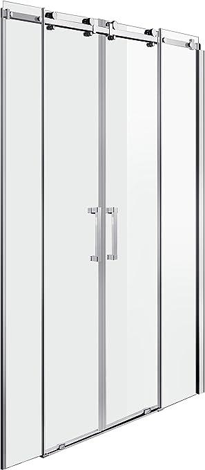 Puerta de ducha Mampara nichos para puerta corredera 120: Amazon.es: Hogar